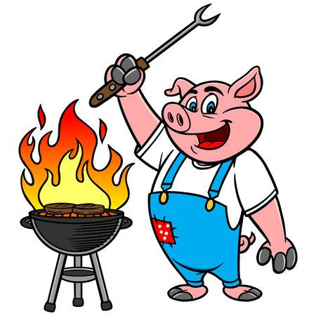 BBQ Grilling Pig Stock Vector - 57278598