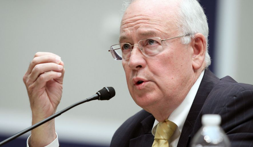 In this May 8, 2014, file photo, then Baylor University President Ken Starr testifies at the House Committee on Education and Workforce on college athletes forming unions. in Washington. President Donald Trump's legal team will include former Harvard University law professor Alan Dershowitz and Ken Starr, the former independent counsel who led the Whitewater investigation into President Bill Clinton, according to a person familiar with the matter. The team will also include Pam Bondi, the former Florida attorney general. (AP Photo/Lauren Victoria Burke, File) **FILE**