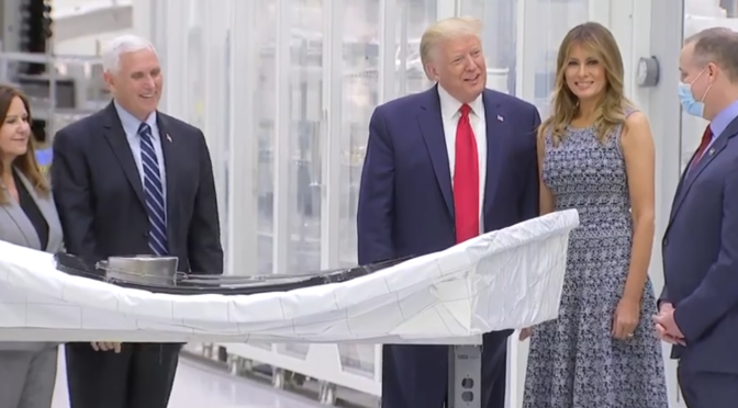 Live: Trump tours NASA facilities ahead of SpaceX launch